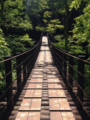 汐見滝吊り橋 花貫渓谷