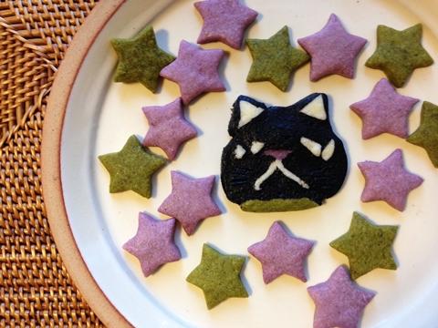 猫型アイスボックスクッキー